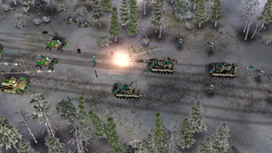 US forces in retreat