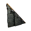 Right Sloping Black Ice Reinforced Wooden Wall Official