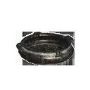 鐵製成的平底鍋