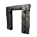 Black Ice-Reinforced Wooden Doorframe
