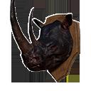 Black Rhino Head Trophy