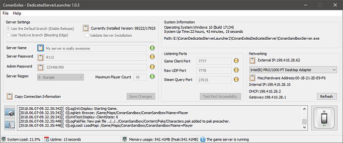 Conan exiles dedicated server steam tool d