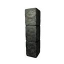 Black Ice-Reinforced Wooden Pillar