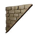 Right Sloping Inverted Reinforced Stone Wall Official