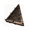 瓦片斜式屋顶三角部件