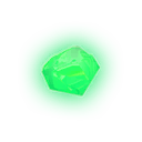 Glowing Green Gem