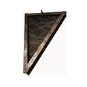 倒置瓦片斜式屋顶三角部件