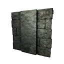 Black Ice-Reinforced Wooden Wall