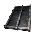 Tiled Sloped Black Ice-Reinforced Wooden Roof