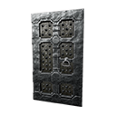 Black Ice-Reinforced Wooden Door