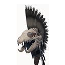 无瑕的鬣狗颅骨盔
