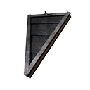Inverted Tiled Wedge Black Ice-Reinforced Wooden Sloped Roof