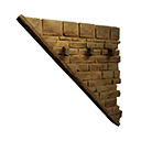 Left Sloping Inverted Stonebrick Wall Official Conan