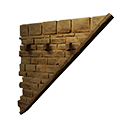 Right-sloping Inverted Stonebrick Wall