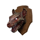 Undead Hyena Head Trophy