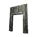 Black Ice-Reinforced Wooden Gateway