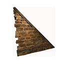 Right-sloping Stonebrick Wall