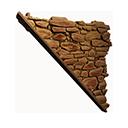 Left-sloping Inverted Sandstone Wall