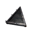 Tiled Wedge Black Ice-Reinforced Wooden Sloped Roof