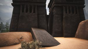 Giant-king Lorestone about Ruins of Old Nebthu.jpg