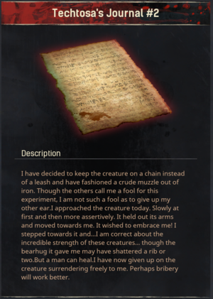 Techtosa's Journal #2