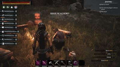 Rokur at his Sandward Tower spawn