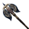 Serpent-Man War Axe