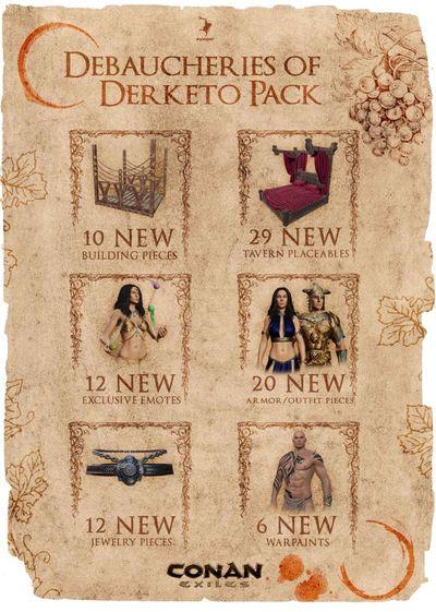 Debaucheries of Derketo Pack - DLC Collage