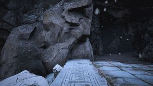 Lemurian Lorestone at The Passage (Snowbiome entrance).jpg