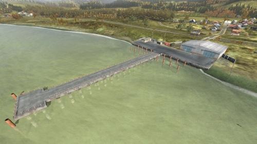 Aerial shot of Balota Pier