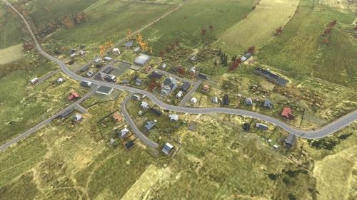 Aerial shot of Pustoshka