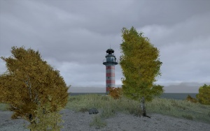 View of the Drakon lighthouse