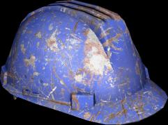 879669bcaa0e30 Hard Hat (Blue) Damaged