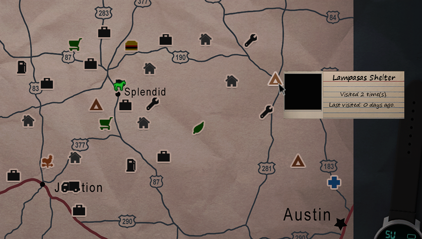 Lampasas Shelter - Official Dead State Wiki on pillars of eternity map, destiny map, the forest map, thief map, fallen earth map, canyonlands national park map, moab utah map, dark souls map, total eclipse map, project zomboid map,