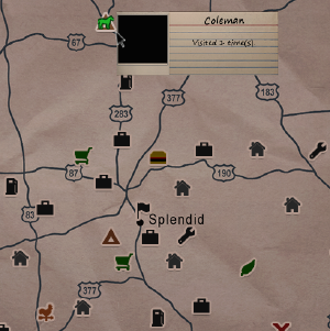 Coleman - Official Dead State Wiki on pillars of eternity map, destiny map, the forest map, thief map, fallen earth map, canyonlands national park map, moab utah map, dark souls map, total eclipse map, project zomboid map,