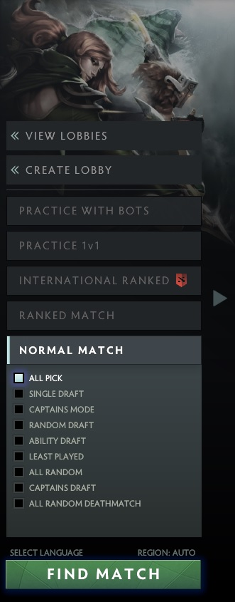 Team matchmaking DotA 2 rating