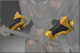 Cosmetic icon Compendium Arms of the Onyx Crucible Bracers.png