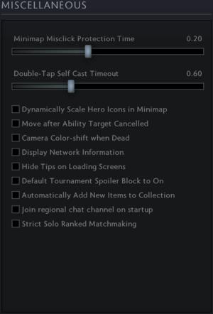 Game settings - Dota 2 Wiki
