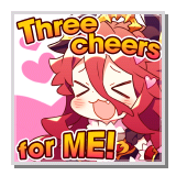 "Mym ""Three cheers for ME!"""