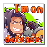 "Ranzal ""I'm on defense!"""