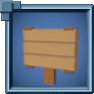 SmallStandingHewnLogSign Icon.png