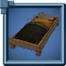 Wooden Straw Bed