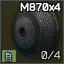 Chargeur tubulaire 4 coups pour M870 cal. 12
