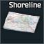 Shoreline paper map