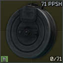 71-round 7.62x25 magazine for PPSH-41