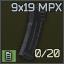 Standard MPX 20-round 9x19 magazine