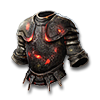 Poe2 plate armor blackened one dozen stood icon.png