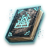 Poe2 grimoire dusty black icon.png