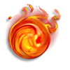 Poe2 magma dragon mantle icon.png