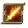 Poe2 scroll of fire brand icon.png